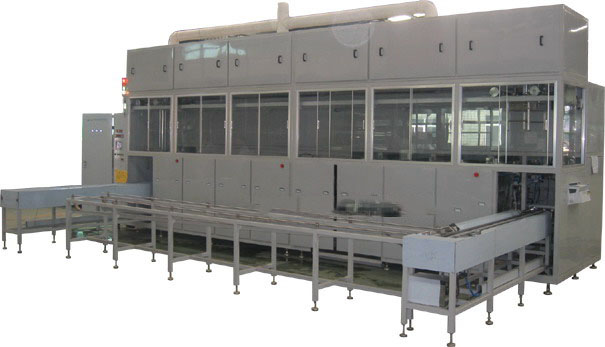 Automatic washer for microwave component